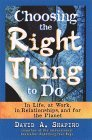 Escogiendo la acción correcta, En la vida, en el trabajo, en las relaciones y por el planeta, por David Shapiro
