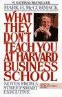 Lo que no enseñan en la Escuela de Negocios de Harvard, y por qué no pueden enseñar astucia callejera, por Mark McCormack