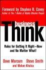 Mentalidad de negocios, Reglas para hacerlo correctamente, ahora y sin más, por Dave Marcum, Steve Smith, Mahan Khalsa