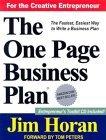 El plan de negocios de una página, Empiece con una visión y cree una compañía, por James Horan