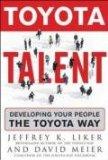Talento Toyota, Formar el personal al estilo Toyota, por Jeffrey Liker, Dave Meier