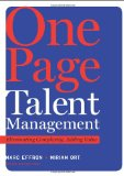 Gerencia de talento de una página, Eliminar complejidad, añadir valor, por Marc Effron, Miriam Ort
