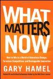 Lo que importa ahora, Cómo triunfar en un mundo en constante cambio, ferozmente competitivo y persistentemente innovador, por Gary Hamel